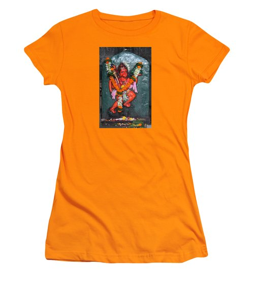 Hanuman Ji, Somewhere Near Ganeshpuri Women's T-Shirt (Athletic Fit)