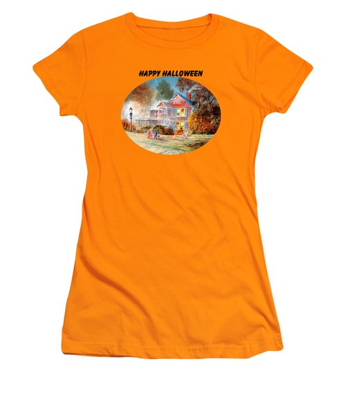Happy Halloween Women's T-Shirt (Junior Cut) by Bill Holkham