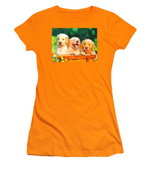 Happy Puppies Women's T-Shirt (Athletic Fit)