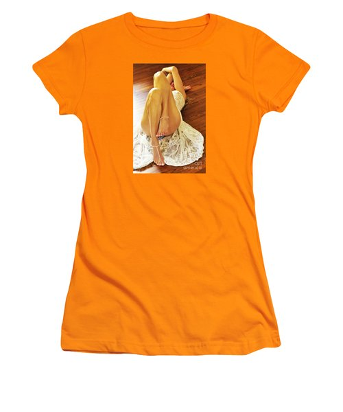 Women's T-Shirt (Junior Cut) featuring the photograph Hardwood by Marat Essex