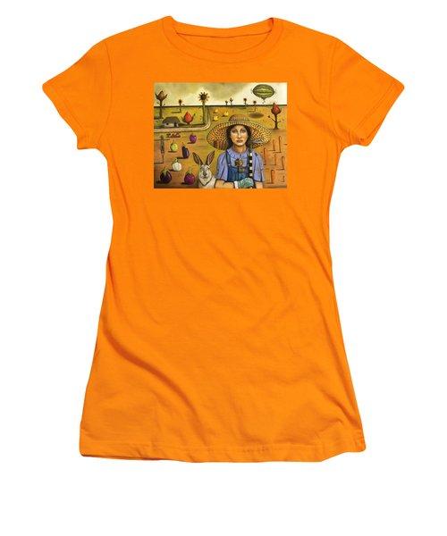 Harvey And The Eccentric Farmer Women's T-Shirt (Junior Cut) by Leah Saulnier The Painting Maniac