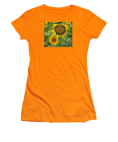 Have A Groovy Day Said The Hippie Flower Women's T-Shirt (Junior Cut) by Joanne Brown