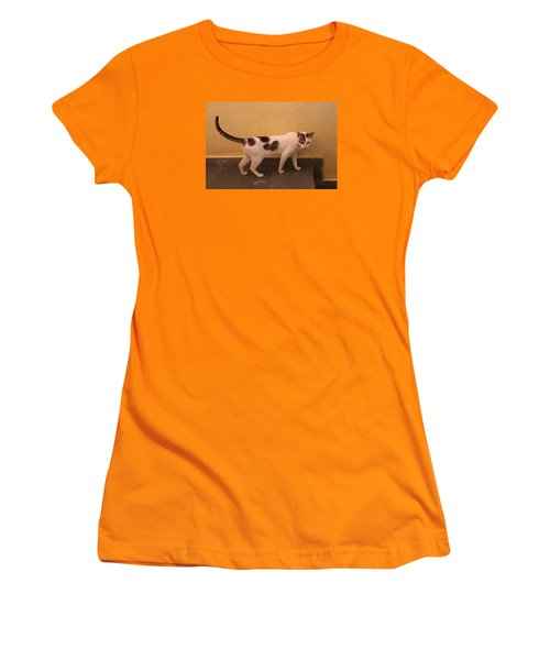 Heart Cat At Rosie's In Ganeshpuri Women's T-Shirt (Athletic Fit)