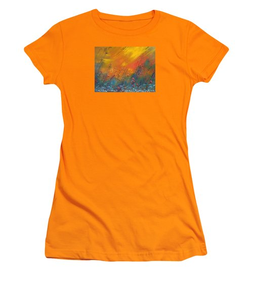 Women's T-Shirt (Junior Cut) featuring the painting Heartland  by Dan Whittemore