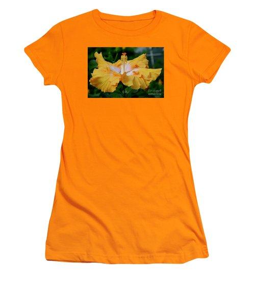 Hibiscus Golden Mist Women's T-Shirt (Athletic Fit)
