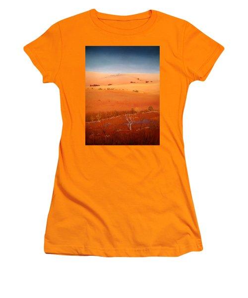 High Plains Hills Women's T-Shirt (Junior Cut) by William Renzulli