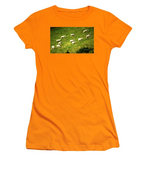 Hillside Pasture Women's T-Shirt (Athletic Fit)