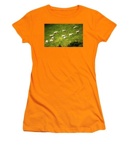 Hillside Pasture Women's T-Shirt (Athletic Fit)