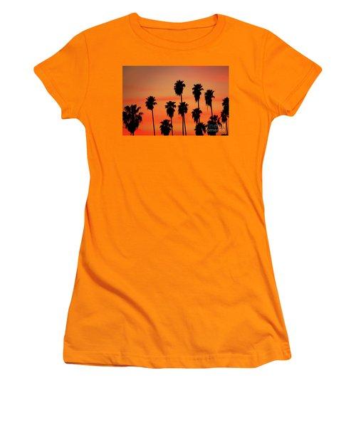 Hollywood Sunset Women's T-Shirt (Junior Cut) by Mariola Bitner
