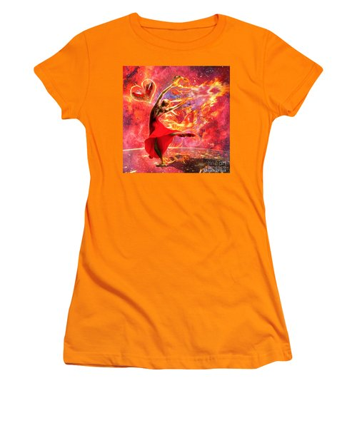 Holy Spirit Fire Women's T-Shirt (Athletic Fit)