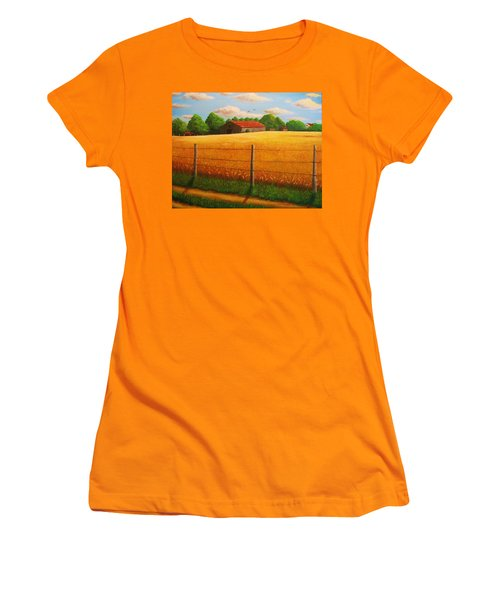 Home On The Farm Women's T-Shirt (Junior Cut) by Gene Gregory