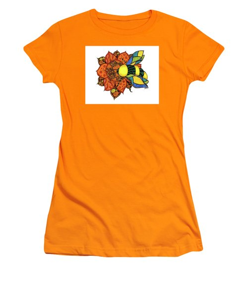 Honeybee On A Flower Women's T-Shirt (Athletic Fit)