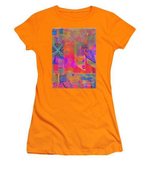 Women's T-Shirt (Junior Cut) featuring the mixed media Hope And Dreams by Angela L Walker