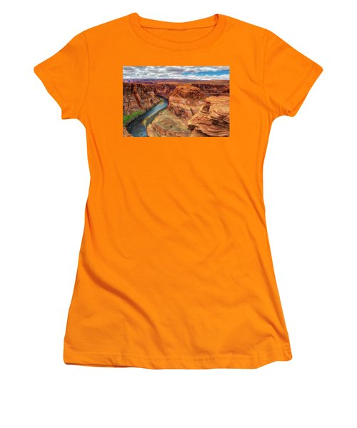 Horseshoe Bend Arizona - Colorado River $4 Women's T-Shirt (Junior Cut) by Jennifer Rondinelli Reilly - Fine Art Photography