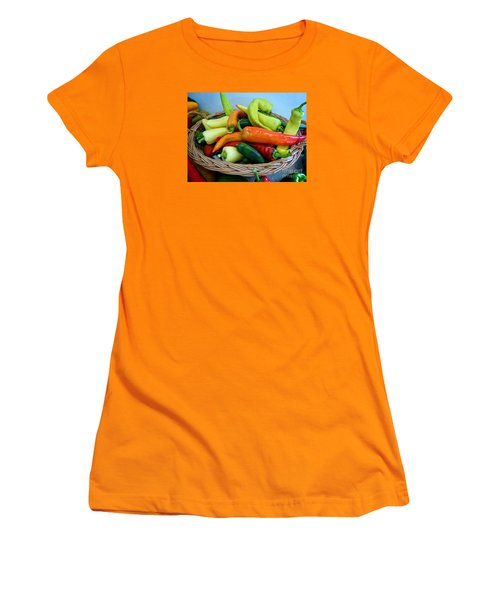 Hot Peppers Women's T-Shirt (Athletic Fit)