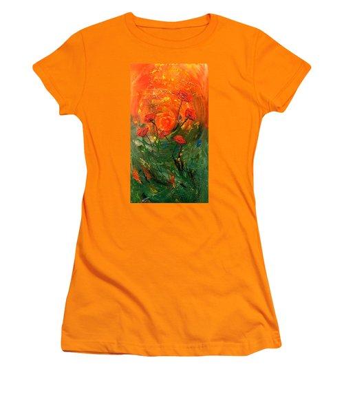 Hot Summer Poppies Women's T-Shirt (Junior Cut) by Dorothy Maier