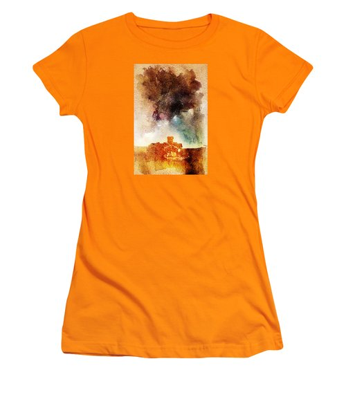 House And Night Women's T-Shirt (Junior Cut) by Andrea Barbieri