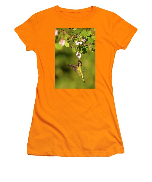 Hummingbird And Manzanita Blossom Women's T-Shirt (Athletic Fit)