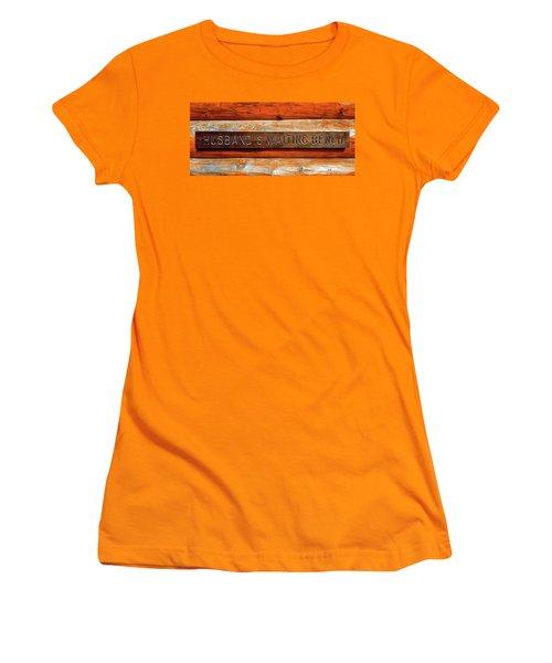 Husband's Waiting Bench - Denali National Park Women's T-Shirt (Junior Cut) by Joseph Hendrix