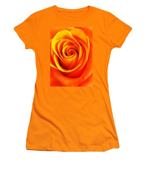 Hypnotic Orange Women's T-Shirt (Athletic Fit)