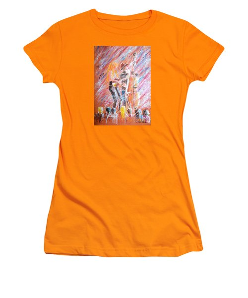 Women's T-Shirt (Junior Cut) featuring the painting I Love Bluegrass by Bill Holkham