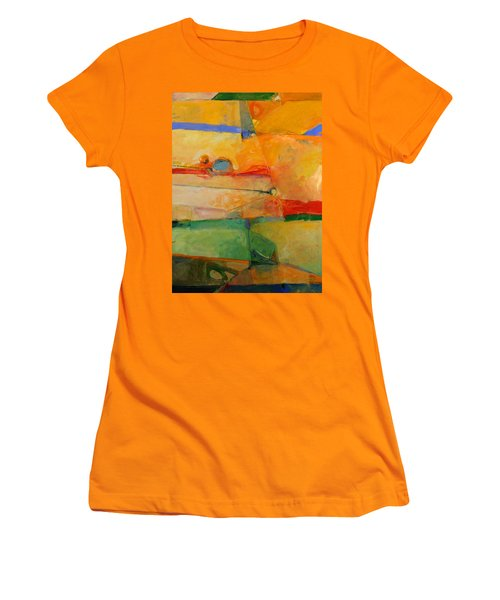Women's T-Shirt (Junior Cut) featuring the painting I'm In Corn  by Cliff Spohn