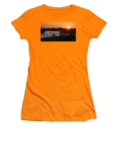 Impalila Island Sunrise Women's T-Shirt (Junior Cut) by Joe Bonita
