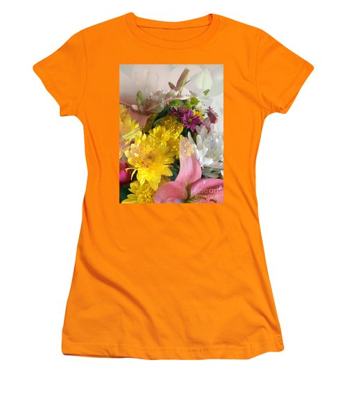 Impressionist Spring Bouquet Women's T-Shirt (Athletic Fit)