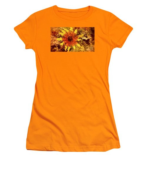 Impressionistic Petals Women's T-Shirt (Athletic Fit)