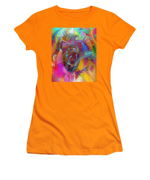 Women's T-Shirt (Junior Cut) featuring the mixed media In The Light by Kevin Caudill