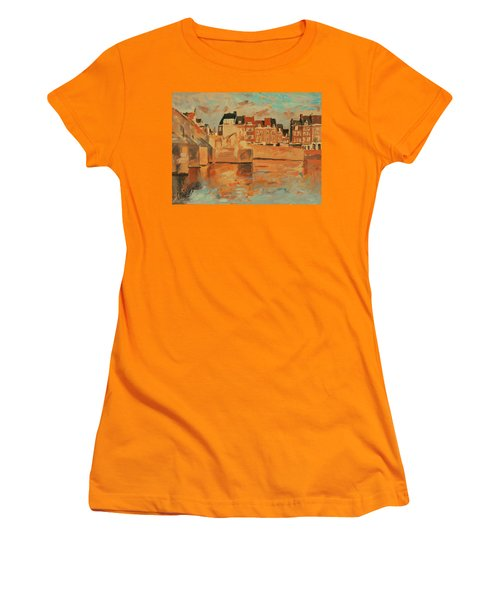 Indian Summer Sunday Sunset Women's T-Shirt (Athletic Fit)
