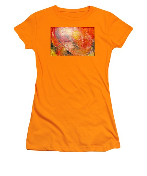 Women's T-Shirt (Junior Cut) featuring the painting Inferno by Jacqueline Athmann
