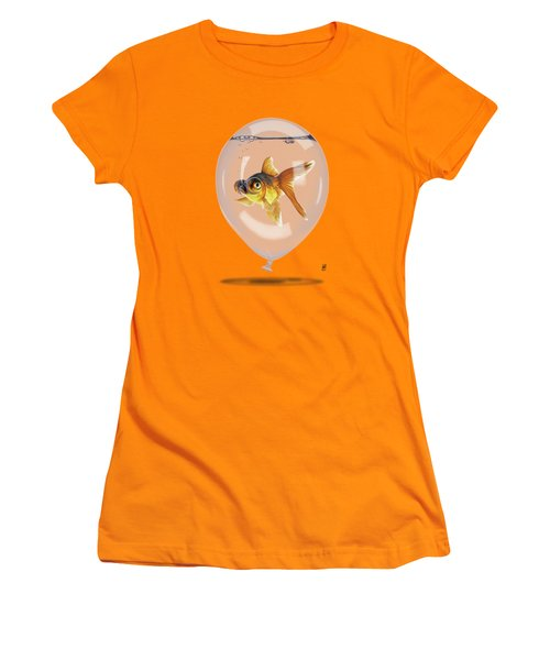 Inflated Wordless Women's T-Shirt (Junior Cut) by Rob Snow