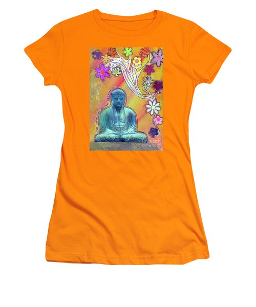 Women's T-Shirt (Junior Cut) featuring the mixed media Inner Bliss by Desiree Paquette