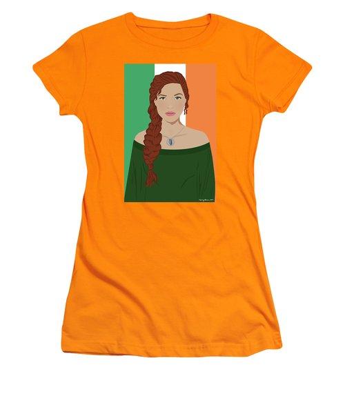 Women's T-Shirt (Junior Cut) featuring the digital art Ireland by Nancy Levan