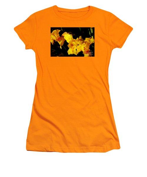 Irises Women's T-Shirt (Junior Cut) by David Blank