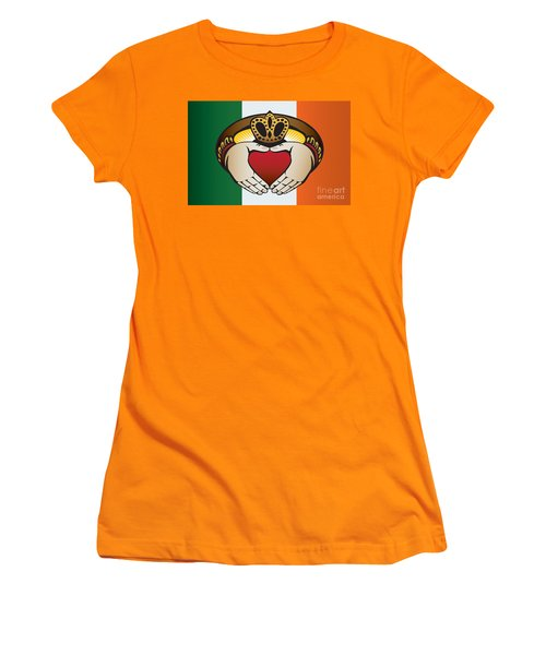 Irish Claddagh Art Women's T-Shirt (Athletic Fit)