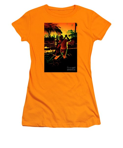 Women's T-Shirt (Junior Cut) featuring the photograph It Takes Two To Tango by Al Bourassa