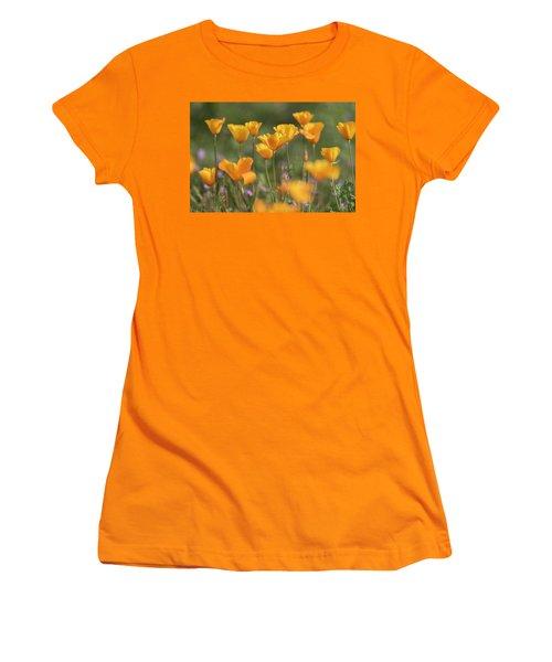 Women's T-Shirt (Junior Cut) featuring the photograph It's A Poppy Thing  by Saija Lehtonen