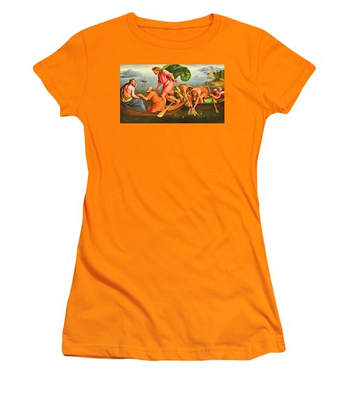 Women's T-Shirt (Junior Cut) featuring the photograph Jacopo Bassano Fishes Miracle by Munir Alawi