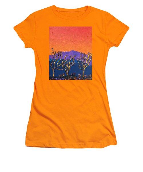 Joshua Trees Women's T-Shirt (Junior Cut) by Mayhem Mediums