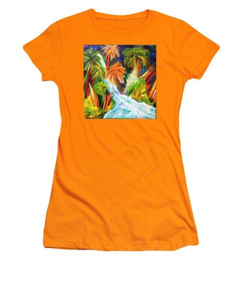 Jungle Falls Women's T-Shirt (Athletic Fit)