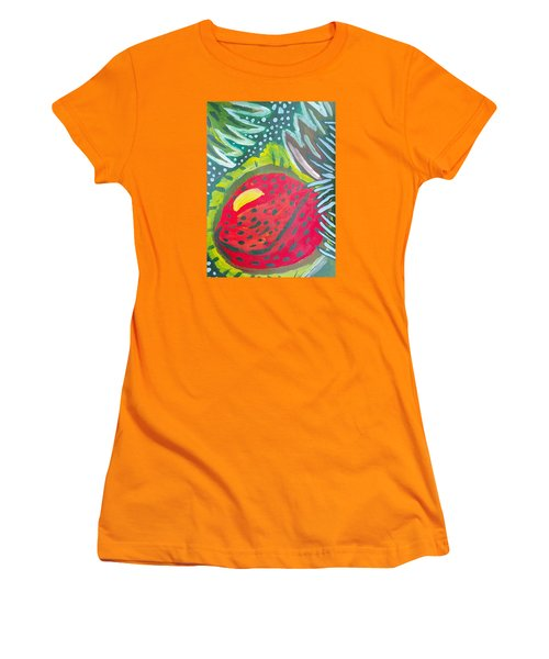 Women's T-Shirt (Junior Cut) featuring the painting Jungle Fruit by Artists With Autism Inc