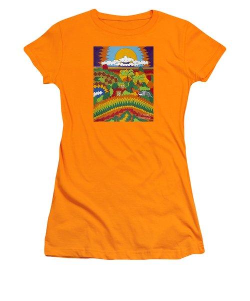 Kilimanjaro Women's T-Shirt (Junior Cut) by Rojax Art