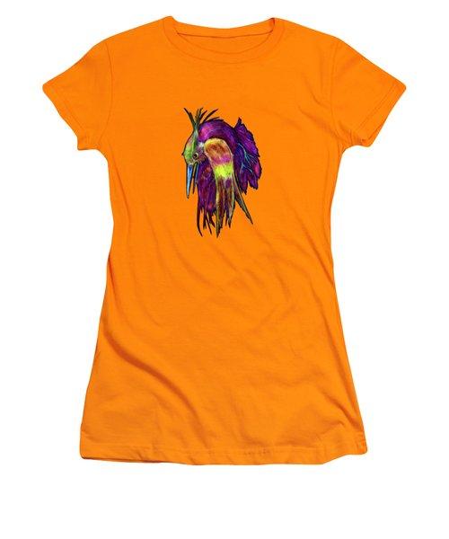 Kingfisher Falling La Caida Del Martin P Women's T-Shirt (Athletic Fit)