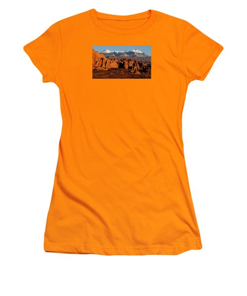 La Sal Mountains Women's T-Shirt (Athletic Fit)