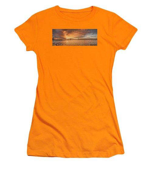 Lake Sunset Women's T-Shirt (Athletic Fit)