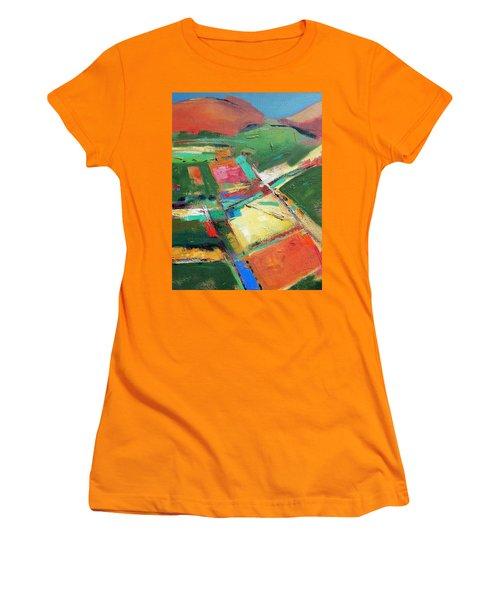 Land Patches Women's T-Shirt (Junior Cut) by Gary Coleman