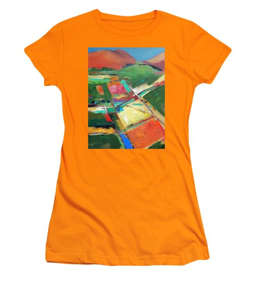 Land Patches Women's T-Shirt (Athletic Fit)