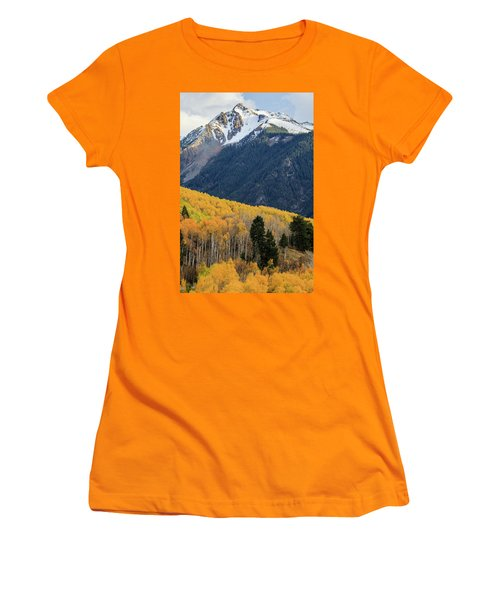 Women's T-Shirt (Athletic Fit) featuring the photograph Last Light Of Autumn Vertical by David Chandler